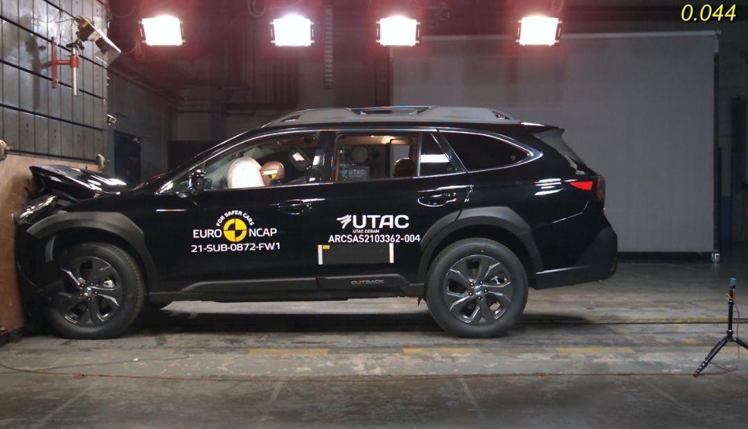 Nové Subaru Outback dosiahlo najlepšie skóre v crash testoch Euro NCAP pre rok 2021